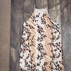 Leopard print mini dress S